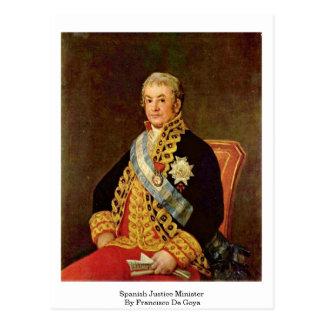Ministro de justiça espanhol por Francisco De Goya Cartoes Postais