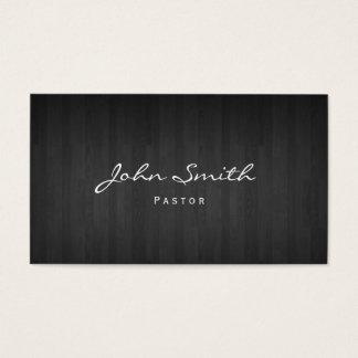 Ministro igreja de madeira escura elegante do cartão de visitas