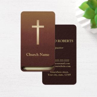Ministro livro do pastor da igreja da bíblia da cartão de visitas