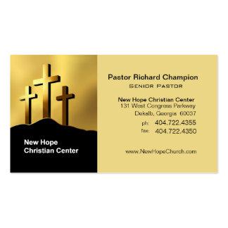 Ministro/pastor cristãos do símbolo das cruzes de cartão de visita