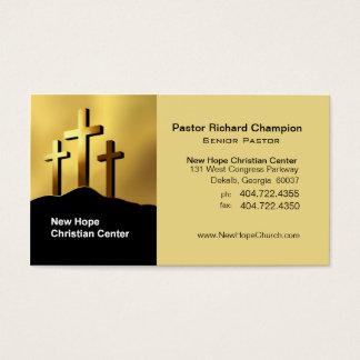 Ministro/pastor cristãos do símbolo das cruzes de cartão de visitas