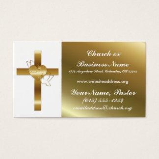 Ministro transversal cartão de visita da igreja