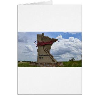 Minnesota dá-lhe boas-vindas cartão comemorativo
