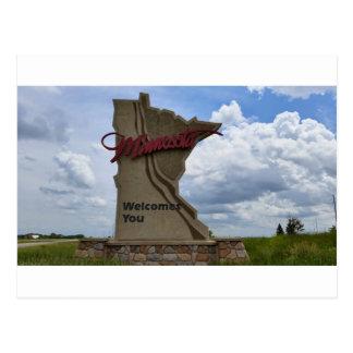 Minnesota dá-lhe boas-vindas cartão postal