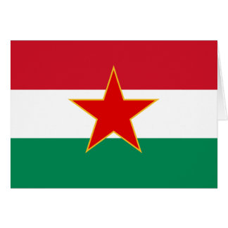 Minoria húngara jugoslava de Sfr, bandeira étnica Cartões