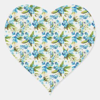 Miosótis Adesivo Coração