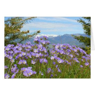 Miosótis alpino cartão comemorativo