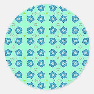miosótis adesivos em formato redondos