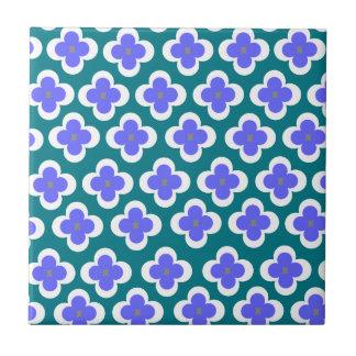 Miosótis delicados azulejo quadrado pequeno