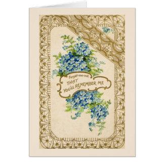 Miosótis do vintage cartão comemorativo