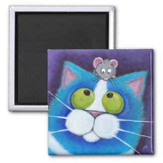 Mirtilo e ímã Mousey pequenino Ímã Quadrado