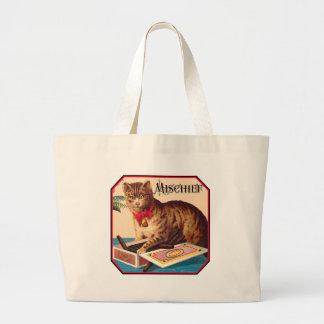 Mischief o gato bolsa para compras