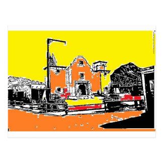 Missão espanhola na luz do sol cartão postal