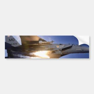 míssil de lançamento do jato f-15 adesivo para carro