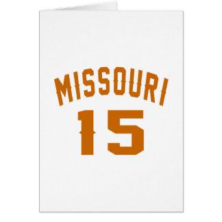 Missouri 15 designs do aniversário cartão