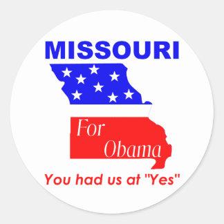 Missouri para Obama Adesivos