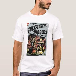 Mistérios da camiseta inexplorada dos mundos