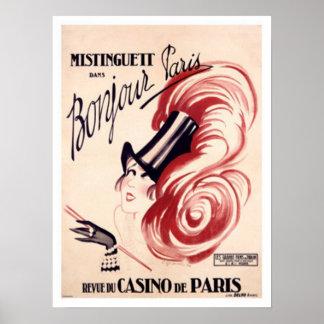 Mistinguett, Bonjour Paris Pôster