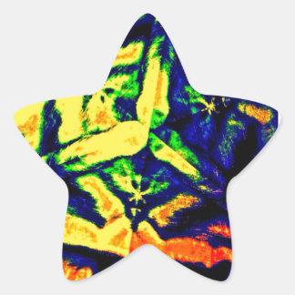 Mistura abstrata da cor adesito estrela