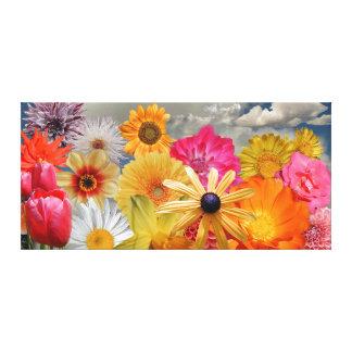 Mistura das flores impressão de canvas envolvidas