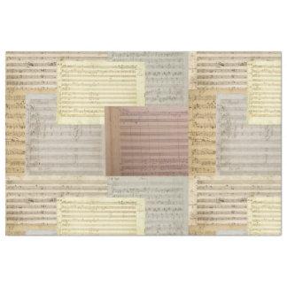 Mistura do manuscrito da música de Mozart Papel De Seda