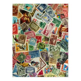 Mistura húngara do selo cartão postal