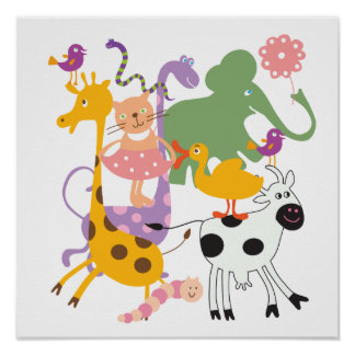Mistura variada animal poster