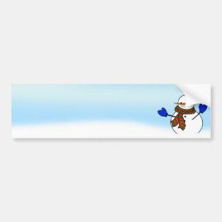 Mitenes felizes do boneco de neve w/Blue dos Adesivo