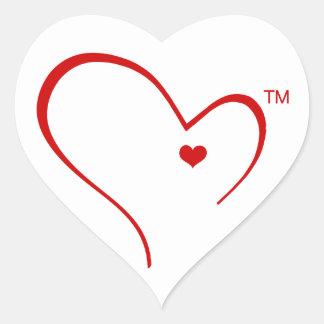 Mitenes para a etiqueta do logotipo do coração de