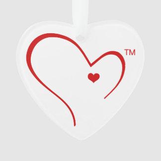 Mitenes para o ornamento do coração do logotipo do