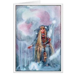 Mitologia de noruegueses - Frigga Cartão Comemorativo