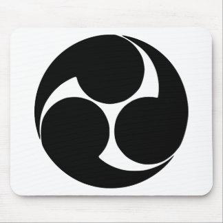 Mitsudomoe de Hidari, Japão Mouse Pad