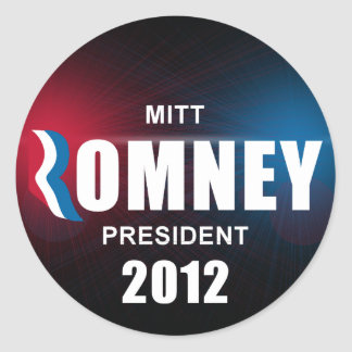 Mitt Romney - anti Barack Obama Adesivos Em Formato Redondos