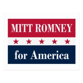 Mitt Romney para América Cartao Postal