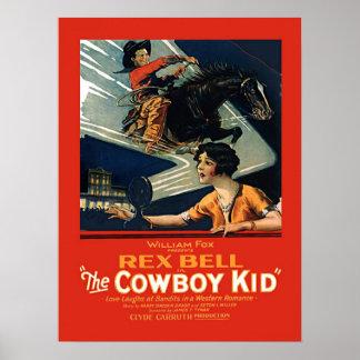 Miúdo do vaqueiro de Rex Bell da propaganda do Poster