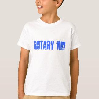 Miúdo giratório, camisa dos miúdos T