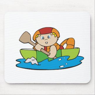 Miúdo que Kayaking Mouse Pads