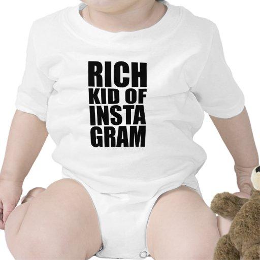 Miúdo rico de Instagram Camisetas