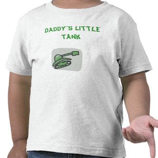 Miúdos brancos da camiseta do tanque do pai poucos
