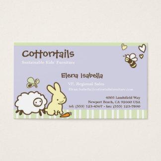 Miúdos & cartão da família com animais bonitos