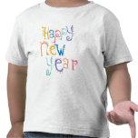 Miúdos, criança, definição do ano novo do bebê tshirt