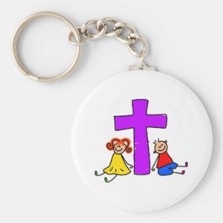 Miúdos cristãos chaveiro