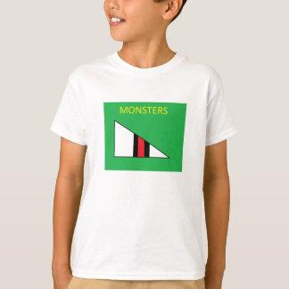 Miúdos da camisa do monstro