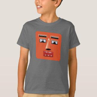 Miúdos da cara V1 do robô Camiseta