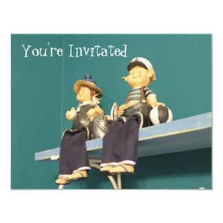 miúdos do marinheiro convite 10.79 x 13.97cm