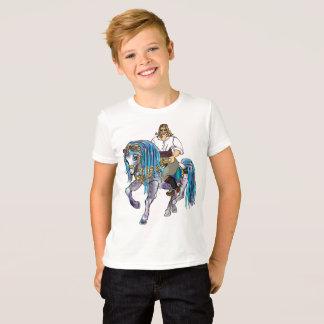 Miúdos do t-shirt do cavaleiro camiseta