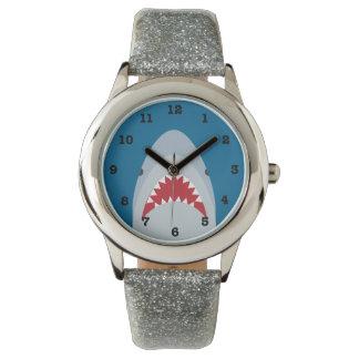 Miúdos do tubarão numerados relógio de pulso