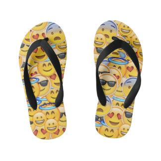 Miúdos dos chinelos de Emoji