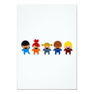 Miúdos dos desenhos animados convites personalizado