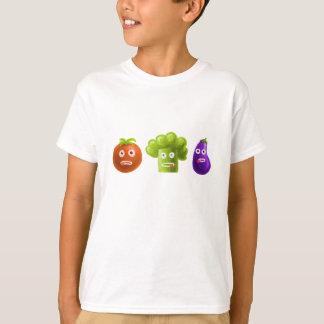 Miúdos engraçados dos vegetais dos desenhos camiseta